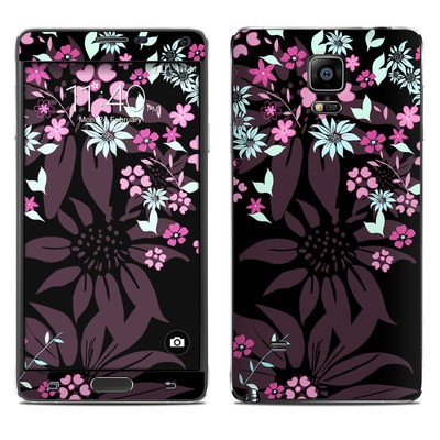 Samsung Galaxy Note 4 Skin - Dark Flowers