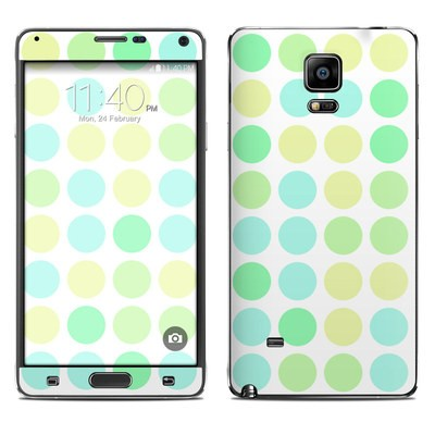 Samsung Galaxy Note 4 Skin - Big Dots Mint