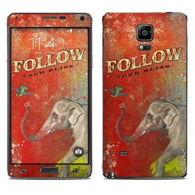 Samsung Galaxy Note 4 Skin - Follow Your Bliss