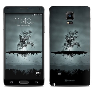 Samsung Galaxy Note 4 Skin - Flying Tree Black