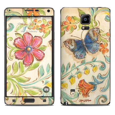 Samsung Galaxy Note 4 Skin - Garden Scroll