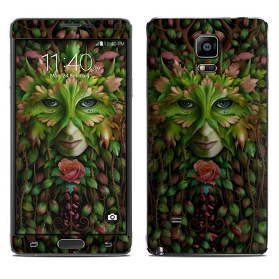Samsung Galaxy Note 4 Skin - Green Woman