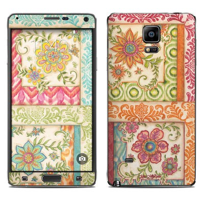 Samsung Galaxy Note 4 Skin - Ikat Floral