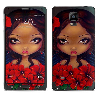 Samsung Galaxy Note 4 Skin - Red Hibiscus Fairy