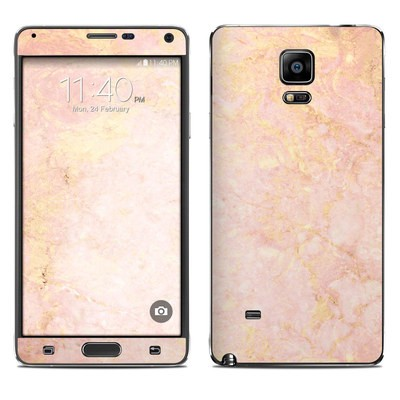Samsung Galaxy Note 4 Skin - Rose Gold Marble