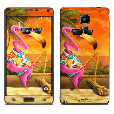 Samsung Galaxy Note 4 Skin - Sunset Flamingo