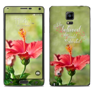 Samsung Galaxy Note 4 Skin - She Believed