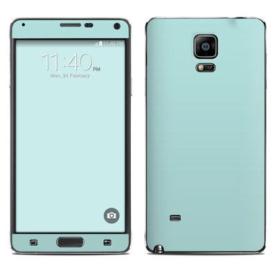 Samsung Galaxy Note 4 Skin - Solid State Mint