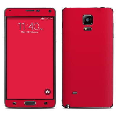 Samsung Galaxy Note 4 Skin - Solid State Red