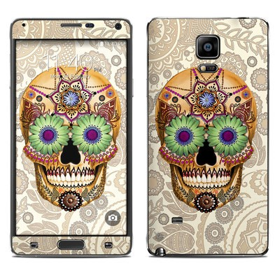 Samsung Galaxy Note 4 Skin - Sugar Skull Bone