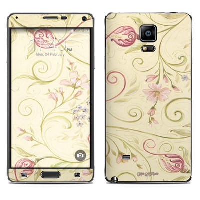 Samsung Galaxy Note 4 Skin - Tulip Scroll