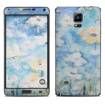 Samsung Galaxy Note 4 Skin - White & Blue