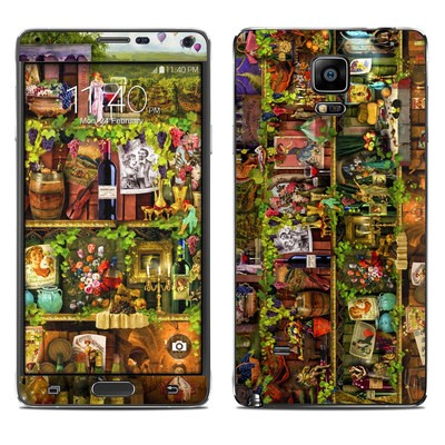 Samsung Galaxy Note 4 Skin - Wine Shelf