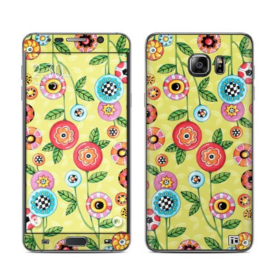 Samsung Galaxy Note 5 Skin - Button Flowers
