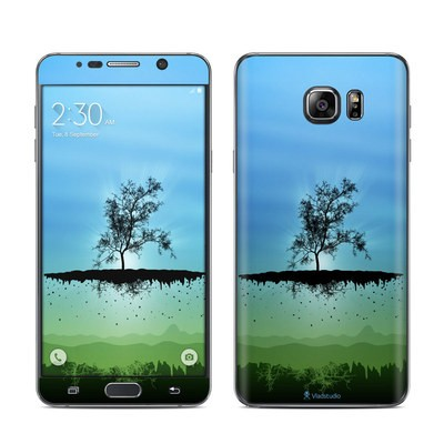 Samsung Galaxy Note 5 Skin - Flying Tree Blue