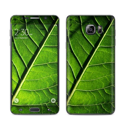 Samsung Galaxy Note 5 Skin - Green Leaf