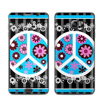 Samsung Galaxy Note 5 Skin - Peace Flowers Black