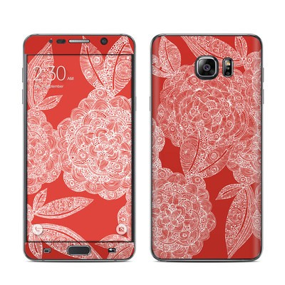 Samsung Galaxy Note 5 Skin - Red Dahlias