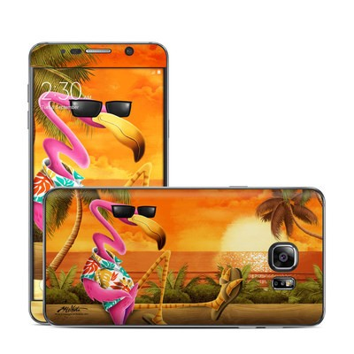 Samsung Galaxy Note 5 Skin - Sunset Flamingo