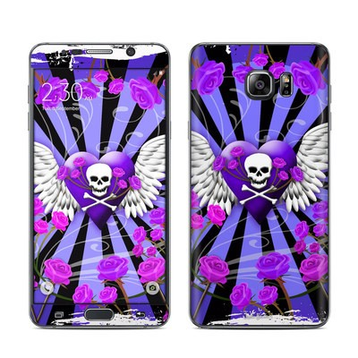 Samsung Galaxy Note 5 Skin - Skull & Roses Purple