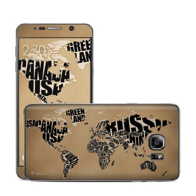 Samsung Galaxy Note 5 Skin - Type Map