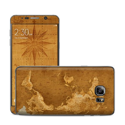 Samsung Galaxy Note 5 Skin - Upside Down Map