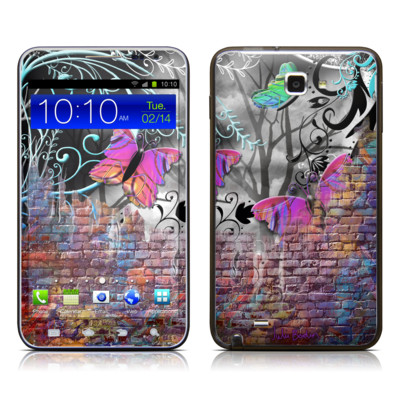 Samsung Galaxy Note LTE Skin - Butterfly Wall