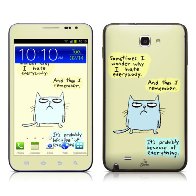 Samsung Galaxy Note LTE Skin - Catwad Hate