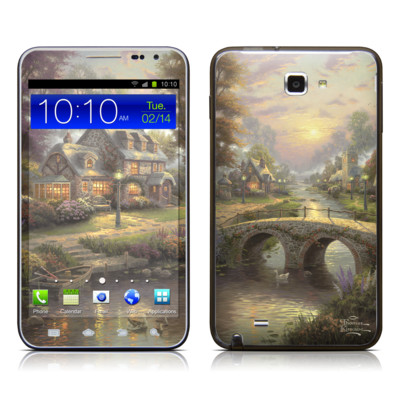Samsung Galaxy Note LTE Skin - Sunset On Lamplight Lane