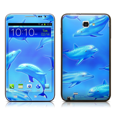Samsung Galaxy Note LTE Skin - Swimming Dolphins