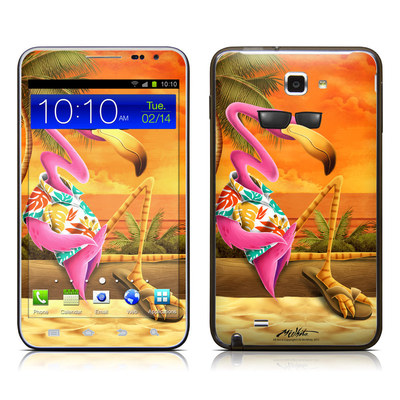 Samsung Galaxy Note LTE Skin - Sunset Flamingo