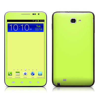 Samsung Galaxy Note LTE Skin - Solid State Lime