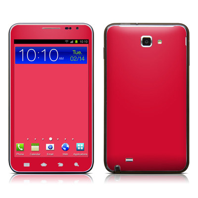 Samsung Galaxy Note LTE Skin - Solid State Red