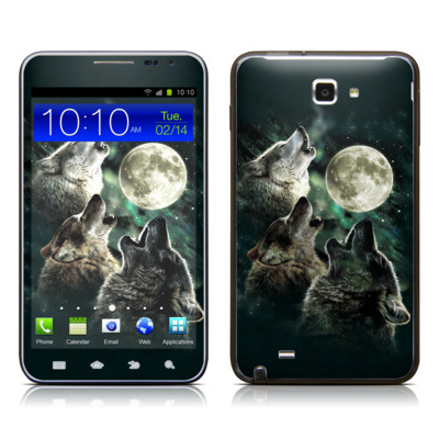 Samsung Galaxy Note LTE Skin - Three Wolf Moon