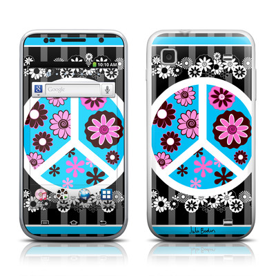 Samsung Galaxy Player 4.0 Skin - Peace Flowers Black