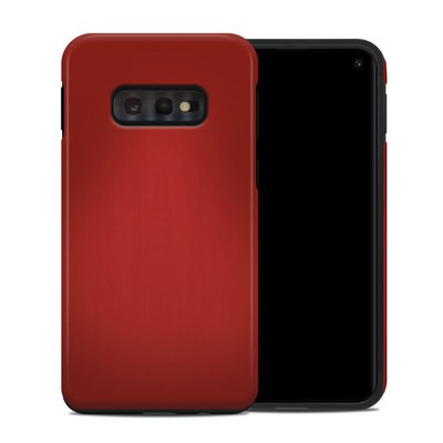 Samsung Galaxy S10e Hybrid Case - Red Burst