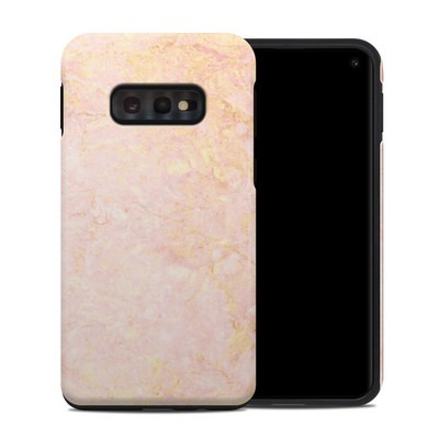 Samsung Galaxy S10e Hybrid Case - Rose Gold Marble