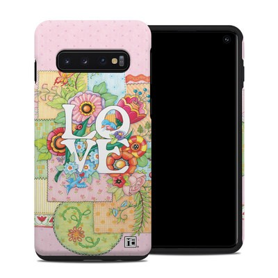 Samsung Galaxy S10 Hybrid Case - Love And Stitches