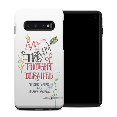 Samsung Galaxy S10 Hybrid Case - Train Derailed