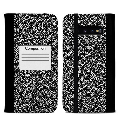 Samsung Galaxy S10 Plus Folio Case - Composition Notebook