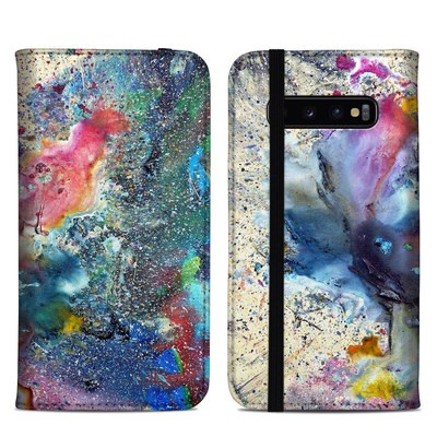 Samsung Galaxy S10 Plus Folio Case - Cosmic Flower