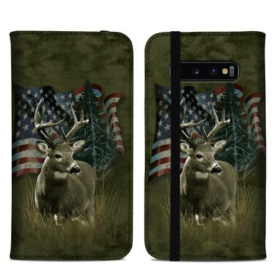 Samsung Galaxy S10 Plus Folio Case - Deer Flag