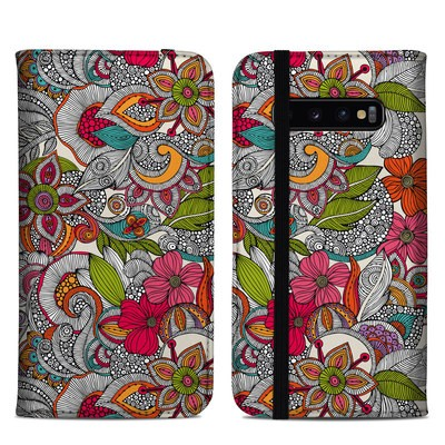 Samsung Galaxy S10 Plus Folio Case - Doodles Color