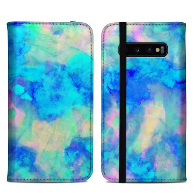 Samsung Galaxy S10 Plus Folio Case - Electrify Ice Blue