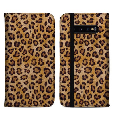 Samsung Galaxy S10 Plus Folio Case - Leopard Spots