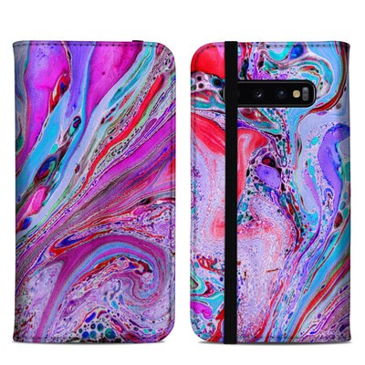 Samsung Galaxy S10 Plus Folio Case - Marbled Lustre