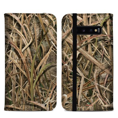 Samsung Galaxy S10 Plus Folio Case - Shadow Grass Blades