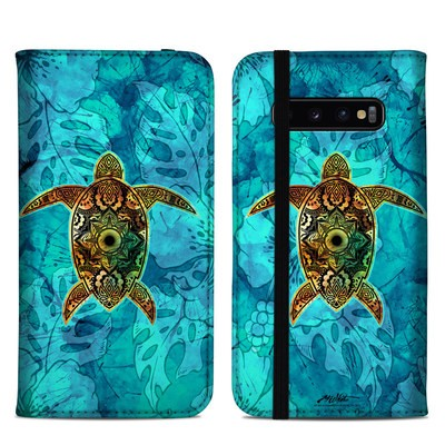Samsung Galaxy S10 Plus Folio Case - Sacred Honu