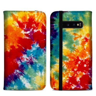 Samsung Galaxy S10 Plus Folio Case - Tie Dyed