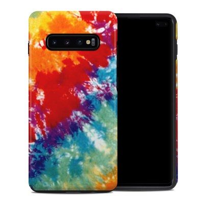 Samsung Galaxy S10 Plus Hybrid Case - Tie Dyed